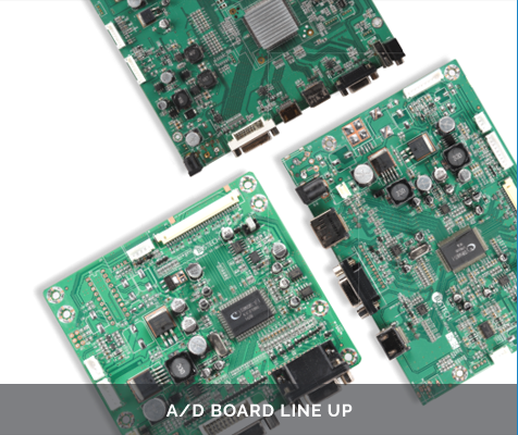 a/d board line up